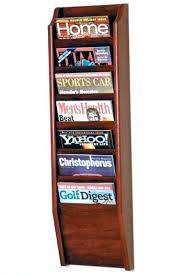 magazine racks for office. Wood Wall Magazine Rack 7 Pocket Mount Racks Office . For