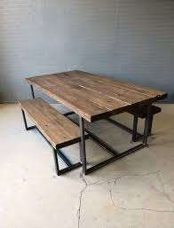 beautiful metal and wood picnic table 25 best ideas about metal picnic tables on diy