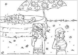 Disegni Da Colorare In Vacanzapiscina Con Bambini Blogmammait