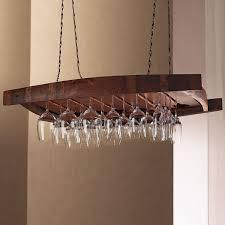 hanging wine glass holder rack for storing stem glasses