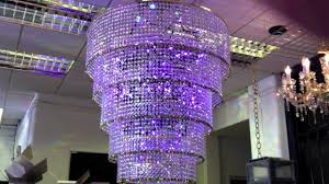 led colour changing chandelier