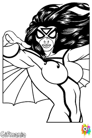 Small Picture Spider Girl coloring page