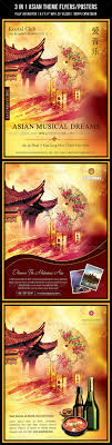 Flyers Theme 3 In 1 Asian Theme Poster Flyer Www Moderngentz Com Your