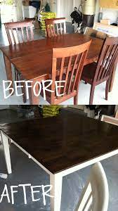 stain and paint your kitchen table