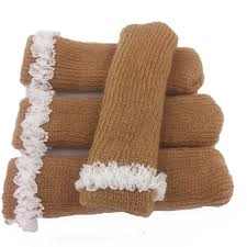 Cute Chair Leg Protectors Knitted Furniture Feet Socks Floor