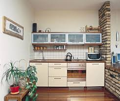 Marvelous Kitchen Design, Cream Rectangle Contemporary Metal Small Kitchens For Studio  Apartments Stained Design For Small