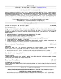 Solaris Administration Sample Resume 8 Network Systems Analyst Cover