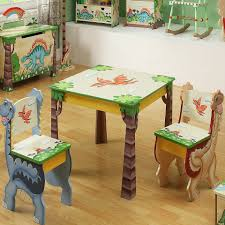 childrens wooden table and chair set baby childrens teamson dinosuar for children jpg teams
