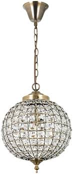 tanaro antique brass glass bead globe pendant light