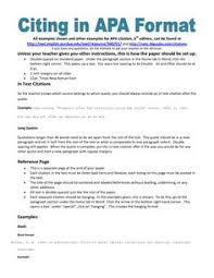 apa format for college papers research paper sample format  example of apa citation in paper apa citation handout