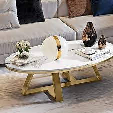 modern small oval coffee table side