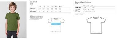 American Apparel Youth Size Chart 47 Detailed American Apparel T Shirts Size Chart