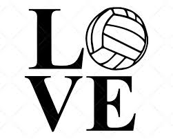 Choose from 1200+ volleyball graphic resources and download in the form of png, eps, ai or psd. L O V E Volleyball Svg Cricut Silhouette Scotties Designs