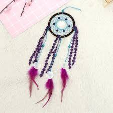 feather wall hanging home decoration retro feather dream catcher circular feathers wall hanging decor for car feather wall hanging