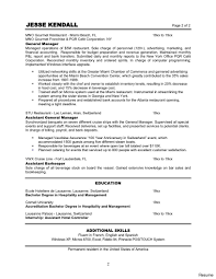Restaurant General Manager Resume Sample Managed Operations Sole