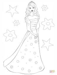 Barbie Princess Coloring Page Free Printable Coloring Pages