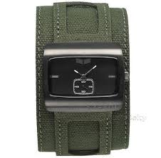 new vestal saint mens leather cuff watch black face army green new vestal saint mens leather cuff watch black face army green olive 120 msrp what s it worth