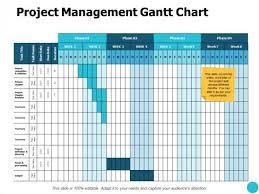 Project Management Gantt Chart Budget Ppt Powerpoint