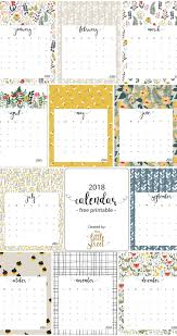 2018 Calendar Free Printable This Little Street This Little
