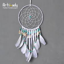 Large Dream Catchers For Sale Artilady charm large dream catcher classic europe white leather 2
