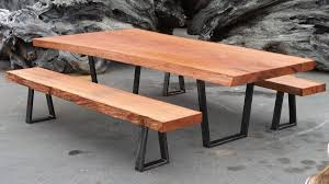 Image Slab Example Of Live Edge Table And Benches Live Edge Tables Redwood Burl Blog Page Of 31 Redwood Burl Inc