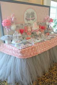 gorgeous dessert table at a tutu cute baby shower party see more party planning ideas at catchmyparty