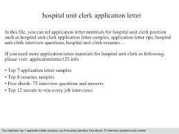 Hospital Unit Clerk Resume Nursing Unit Clerk Sample Resume Ha