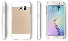 samsung galaxy s6 white and gold. obliq slim meta samsung galaxy s6 edge case - white champagne gold and