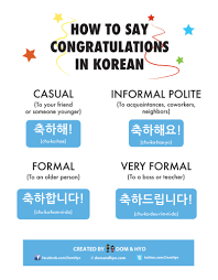 Words For Congratulations How To Say Congratulations In Korean Learn Basic Korean