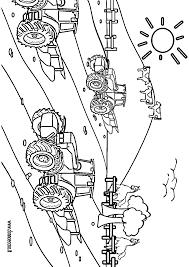 Dessins Colorier Coloriage Tracteur Imprimer Prefix Avec Charrue X