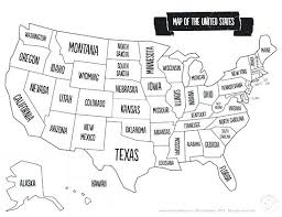 Printable Maps Of Map Free United States With Names Blank Outline