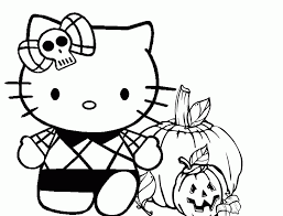 For more fun printables and other cool projects, check out our halloween diy ideas board on pinterest. Hello Kitty Halloween Coloring Pages Coloring Home
