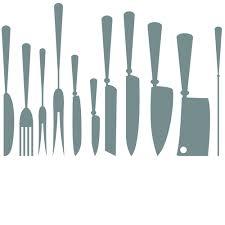 kitchen utensils silhouette vector free. Different Kitchen Cutlery Silhouette Vector 02 Utensils Free