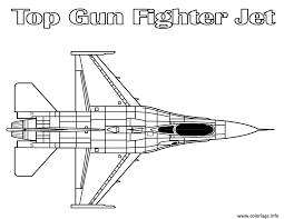 Coloriage Top Gun Fighter Jet Avion De Chasse 5 Jecolorie Com