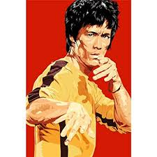 <b>Bruce Lee</b> Poster by Silk <b>Printing</b> # Size About (60cm x 90cm ...