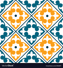 Moroccan Tile Pattern Amazing Spanish Tile Pattern Portuguese Or Moroccan Tile Vector Image