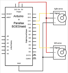 robot motion how to connect a servo to the arduino parts schematic