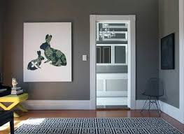 gray wall paintGray Walls  Contemporary  living room  Behr Squirrel  Design