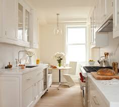 Awesome White Galley Kitchen Renovation