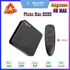 Android Tivi Box Magicsee N5 Max - Chip S905X3 - Ram 4GB - Bộ nhớ 32GB -  Phiên Bản New 2020
