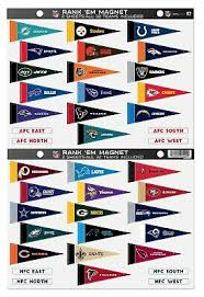 Nfl Magnetic Standings Board Magnets Chart Officially
