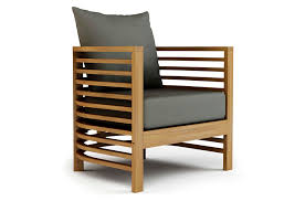 spirals teak lounge chair
