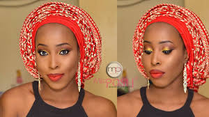makeup tutorial asoebi bella 2 african gele ankara inspired for dark skin women of colour zambian weddings kitchen parties zambian brides