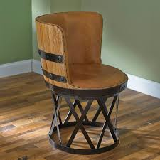 wine barrell furniture. wine barrel chairs tequila stave dining chair with leather seat barrell furniture e