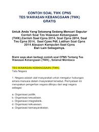 Negara indonesia didirikan berdasarkan atas hukum (rechtsstaat). Contoh Soal Twk Cpns Dan Jawabannya