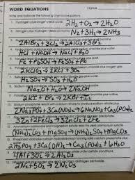 worksheet balancing word equations teacher 5 2 al 6 hcl 2