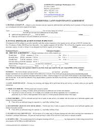 Lawn Care And Landscape Maintenance Contract Pdf Fill