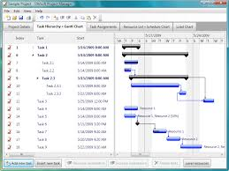 Project Management Task Chart Project Manager For Windows Dlhsoft