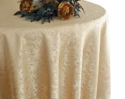 90 round jacquard damask polyester tablecloth champagne 96328 1pc pk