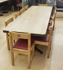 secondhand chairs and tables restaurant or cafe tables with vent covers round oak dining table used commercial